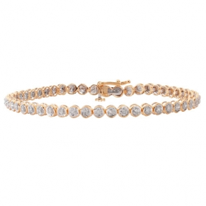 Diamond Tennis Bracelet 1.00ct in Yellow Gold