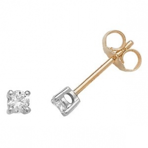 Classic Diamond Stud Earrings 0.20ct, 18k Gold