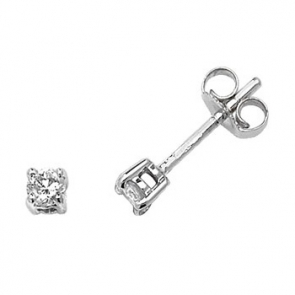 Classic Diamond Stud Earrings 0.20ct, 9k White Gold