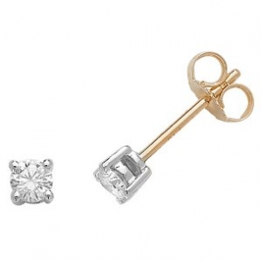 Classic Diamond Stud Earrings 0.33ct, 18k Gold