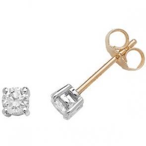 Classic Diamond Stud Earrings 0.40ct, 18k Gold