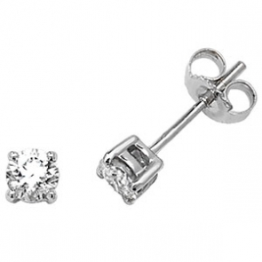 Classic Diamond Stud Earrings 0.50ct G/SI, 18k White Gold