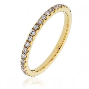 Diamond Full Eternity Ring 0.50ct, 18k Gold