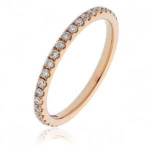 Diamond Full Eternity Ring 0.50ct, 18k Rose Gold