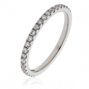 Diamond Full Eternity Ring 0.50ct, 18k White Gold