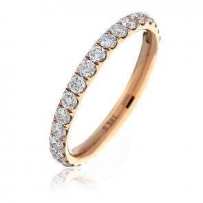 Diamond Full Eternity Ring 1.00ct, 18k Rose Gold
