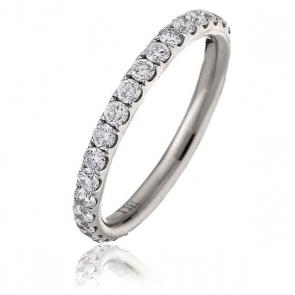 Diamond Full Eternity Ring 1.00ct, 18k White Gold