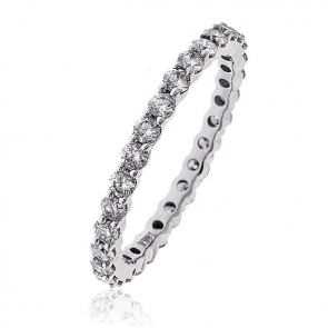 Diamond Full Eternity Ring 1.00ct, 18k White Gold
