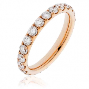 Diamond Full Eternity Ring 1.50ct, 18k Rose Gold