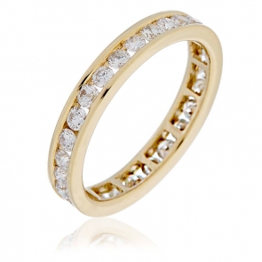 Diamond Full Eternity Ring Channel Set 1.50ct, 18k Gold