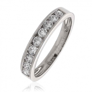 Diamond 9 Stone Half Eternity Ring 0.50ct. in Platinum