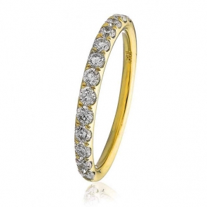 Diamond Half Eternity Ring 0.45ct in 18k Gold