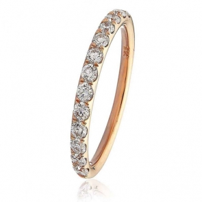 Diamond Half Eternity Ring 0.45ct in 18k Rose Gold