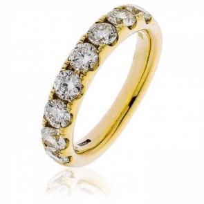 Diamond Half Eternity Ring 1.50ct, 18k Gold