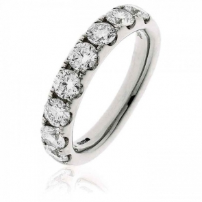 Diamond Half Eternity Ring 1.50ct, 18k White Gold