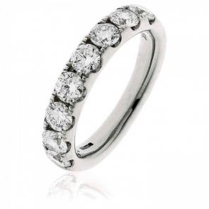 Diamond Half Eternity Ring 1.50ct, 18k White Gold