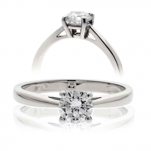 Diamond Solitaire Engagement Ring 0.25ct, 18k White Gold