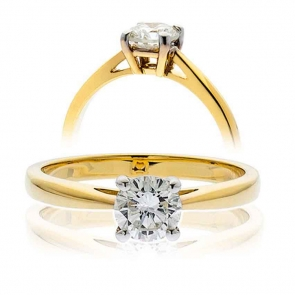 Diamond Solitaire Engagement Ring 0.33ct, 18k Gold