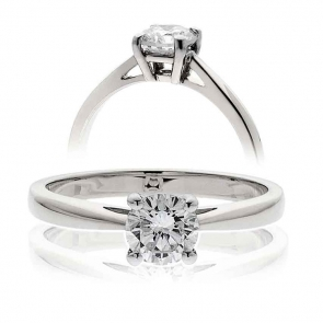 Diamond Solitaire Engagement Ring 0.50ct in Platinum