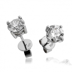 Diamond Studs 0.50ct, 18k White Gold