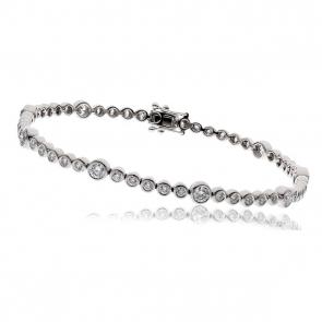 Diamond Tennis Bracelet 2.50ct H/SI, 18k White Gold