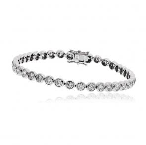 Diamond Tennis Bracelet 5.00ct, 18k White Gold G/SI1