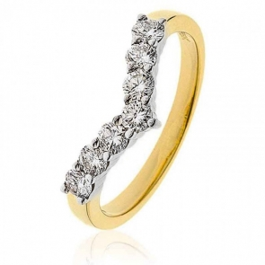 Diamond Wishbone Ring 0.50ct, 18k Gold