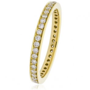 Diamond Full Eternity Ring 0.45ct, 18k Gold