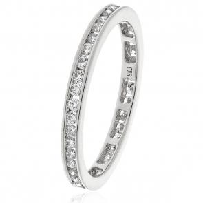 Diamond Full Eternity Ring Channel Set 0.50ct, Platinum