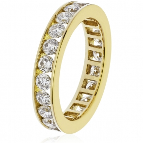 Diamond Full Eternity Ring Channel Set 2.00ct, 18k Gold