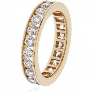 Diamond Full Eternity Ring Channel Set 2.00ct, 18k Rose Gold