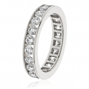 Diamond Full Eternity Ring Channel Set 2.00ct, Platinum