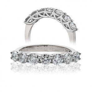 Diamond Half Eternity 7 Stone Ring 0.50ct, Platinum