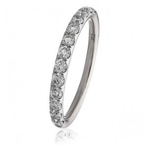 Diamond Half Eternity Ring 0.45ct in Platinum