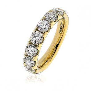 Diamond Half Eternity Ring 2.20ct. 18k Gold, 4.5mm