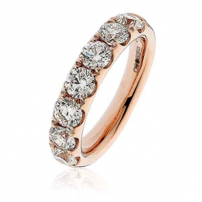 Diamond Half Eternity Ring 2.20ct. 18k Rose Gold, 4.5mm