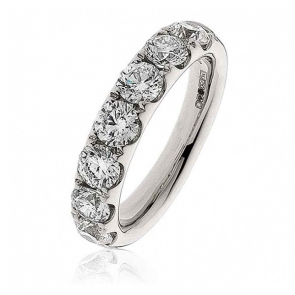 Diamond Half Eternity Ring 2.20ct. 18k White Gold, 4.5mm