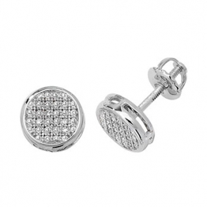 Diamond Stud Earrings 0.12ct, 9k White Gold