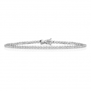 Diamond Tennis Bracelet 0.75ct in 9k White Gold