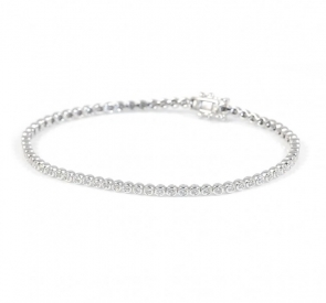 Diamond Tennis Bracelet 1.00ct G/SI, 18k White Gold