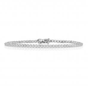 Diamond Tennis Bracelet 1.00ct in 9k White Gold