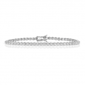 Diamond Tennis Bracelet 1.25ct in 9k White Gold