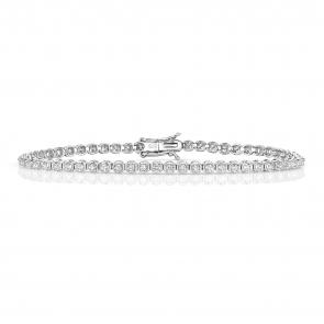 Diamond Tennis Bracelet 1.25ct in 9k White Gold