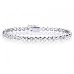 Diamond Tennis Bracelet 3.00ct, 18k White Gold G/SI1