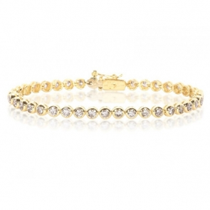 Diamond Tennis Bracelet 4.00ct, 18k Gold G/SI1