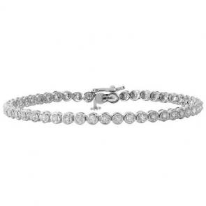 Diamond Tennis Bracelet 1.00ct in White Gold