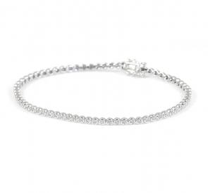 Diamond Tennis Bracelet 1.00ct G/SI, 9k White Gold