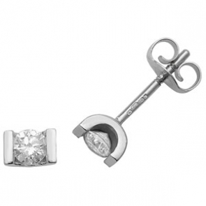 Diamond Studs 0.33ct Tension Set, 9k White Gold