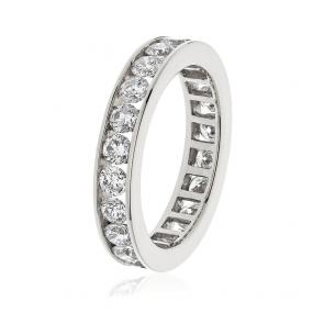Diamond Full Eternity Ring Channel Set 2.00ct, 18k White Gold