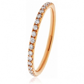 Petite Diamond 60% Eternity Ring, 18k Rose Gold